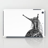 snail iPad Cases featuring Snail by Laura Chico