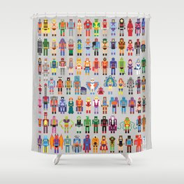 Pixel Masters Shower Curtain