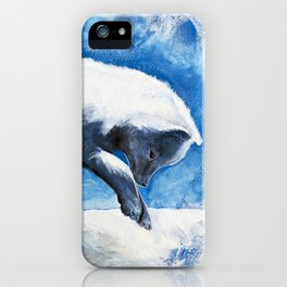 Animal - Antoine the Artic Fox - by LiliFlore iPhone Case