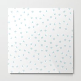 Baby blue stars seamless pattern Metal Print