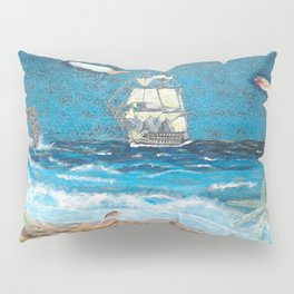 HMS Victory in paradise Pillow Sham