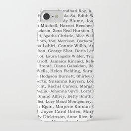 The Ladies of Literature Pattern iPhone Case