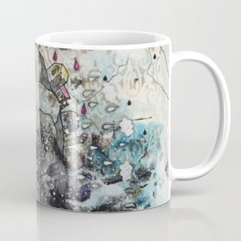 """""""A woman with a flower""""  Illustrated print. Coffee Mug"""