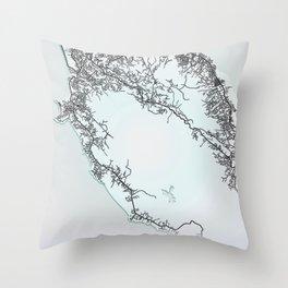 Freetown, Sierra Leone, White, City, Map Throw Pillow