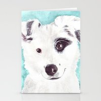 border collie Stationery Cards featuring Border collie by Art by Frydendal