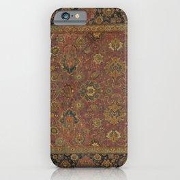 16th Century Iranian Textile Pattern iPhone Case