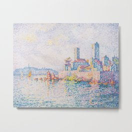 Paul Signac - The Towers at Antibes Metal Print