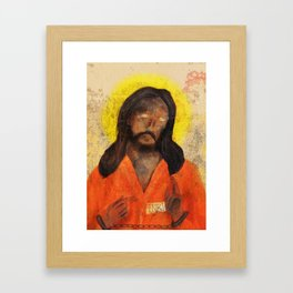Jumpsuit Jesus Framed Art Print