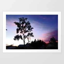 Winter Sunset in the Valley Art Print