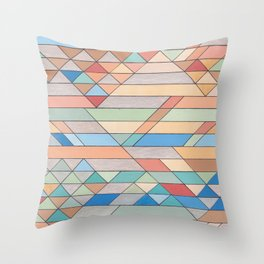 Triangle Pattern no.2 Colorful Throw Pillow