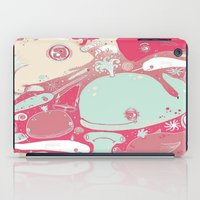 whales iPad Cases featuring Whales by Amy Gale