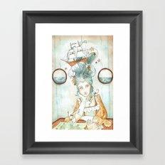 Pirate Princess Framed Art Print