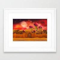 aladdin Framed Art Prints featuring Aladdin castle by Tatyana Adzhaliyska