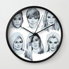 Keeping up 2 (Kardashians) Wall Clock