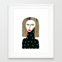 fashion illustration Framed Art Prints featuring Fashion Illustration  by Ashley Percival illustration