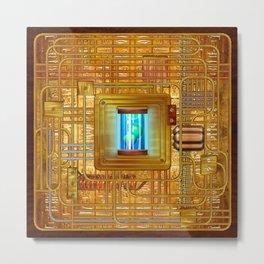 Steampunk Circuit Board #1138 Metal Print