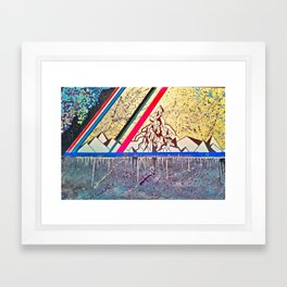 Linear Field Framed Art Print