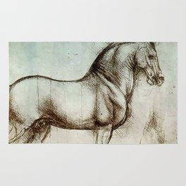 """Leonardo da Vinci """"Gran Cavallo"""" Rug"""