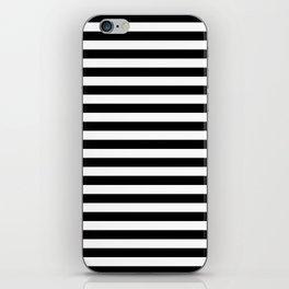 Black White Stripes Minimalist iPhone Skin