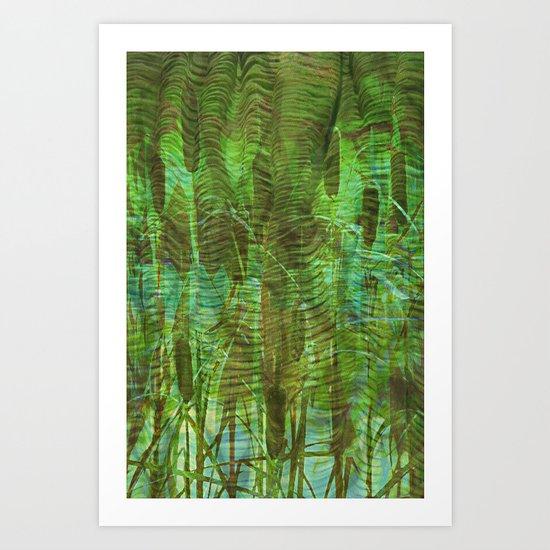 Blue Reed Art Print