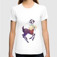 fawn T-shirts featuring Fawn by Stephanie Kao
