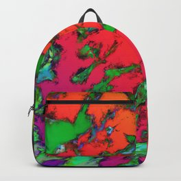 Shattering red tigers Backpack