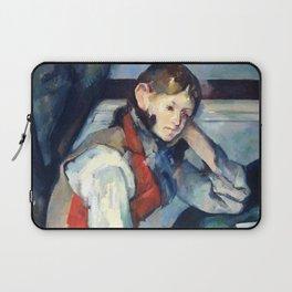 """Paul Cezanne """"Boy in a Red Vest"""" Laptop Sleeve"""