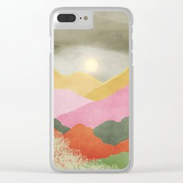 Colorful mountains Clear iPhone Case