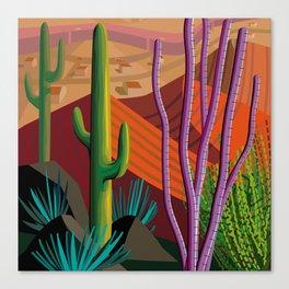 Cactus on Mountaintop Canvas Print