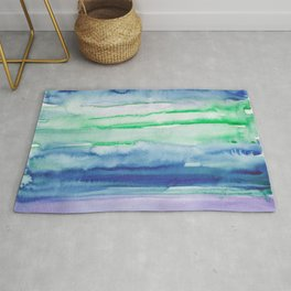 14    190907   Watercolor Abstract Painting Rug