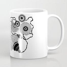 Daisies and Lines - 1 Coffee Mug