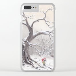 Gnome and fox Clear iPhone Case