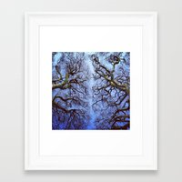 one line Framed Art Prints featuring One line by Gergely Nagy