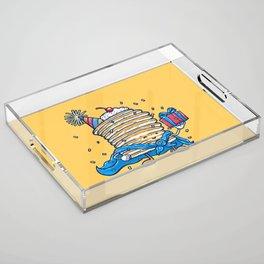 Captain Birthday Pancake Acrylic Tray