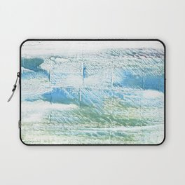 Mint cream abstract watercolor Laptop Sleeve