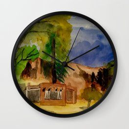 Ghost Ranch Landscape Wall Clock
