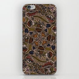 Funghi & Fern Forest, Fall Colors , Foraging for Woodland Mushrooms Brown, Orange Purple iPhone Skin
