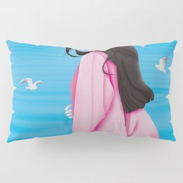Young Lady By The Sea Pillow Sham