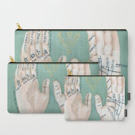 Palmistry Hand Illustration Carry-All Pouch