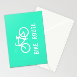 Bike Route Stationery Cards