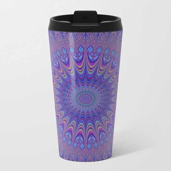 Purple mandala Metal Travel Mug