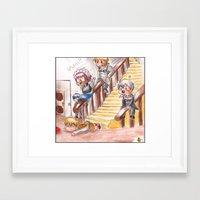 black butler Framed Art Prints featuring Chibi Black Butler - Servants by Furiarossa