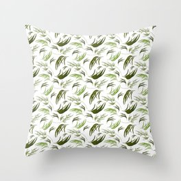 Cute Eucalyptus Leaves - Gorgeous Print Throw Pillow