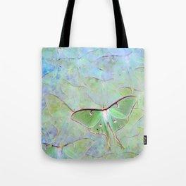 Glowing Luna Moth Tote Bag