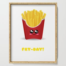 Woo Hoo! It's Fry Day Funny Fries Pun Serving Tray