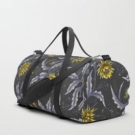 Queen of the Night - Grey Yellow Duffle Bag