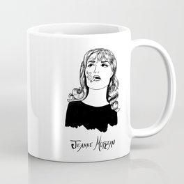 Jeanne Moreau Portrait Coffee Mug