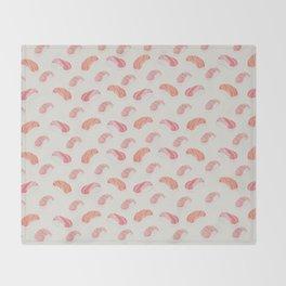 Watecolor Nigiri Sushi Pattern Throw Blanket