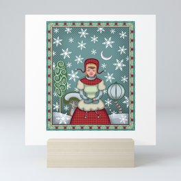 peaceful snow Mini Art Print