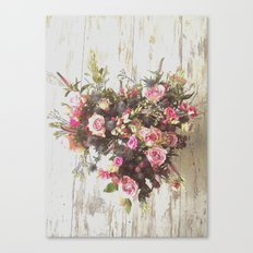 Heart of Flowers Canvas Print